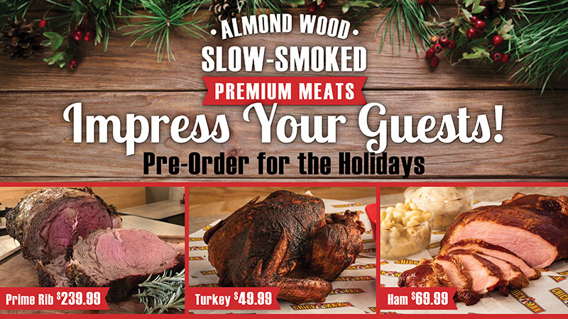 Slow-smoked premium meats