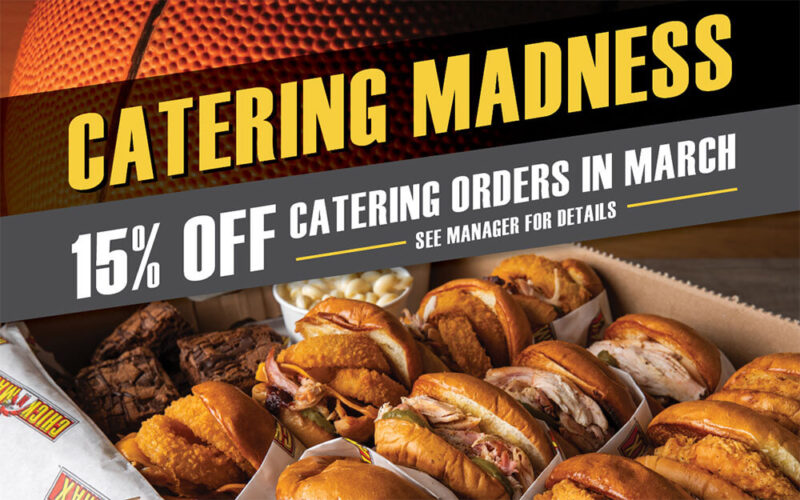 15% off catering orders in March